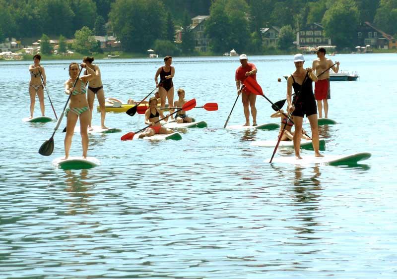 Strandbad Unterburg Sportangebot Windsurfing Stand-Up-Paddeling